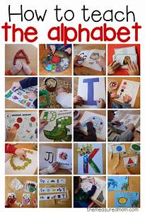 how to teach the alphabet collage image With games to learn letters preschool