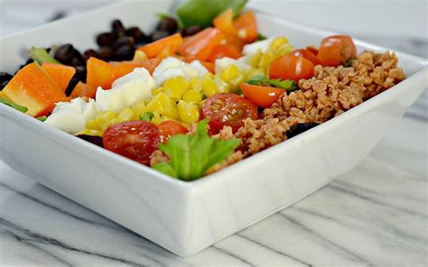 To reduce high blood cholesterol, limit the intake of the following foods are recommended instead of foods high in cholesterol and saturated fats: Low-Fat, High-Protein Vegetarian BBQ Cobb Salad Recipe