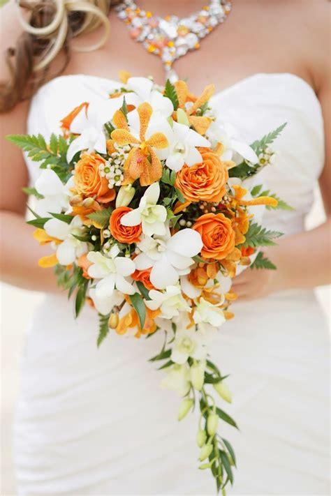 17 Best Ideas About Orange Wedding Flower Arrangements On