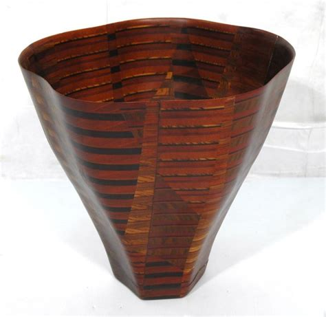 Wooden Floor Vases by Large Laminated Wood Floor Vase Tom Mccarriston Lot 68
