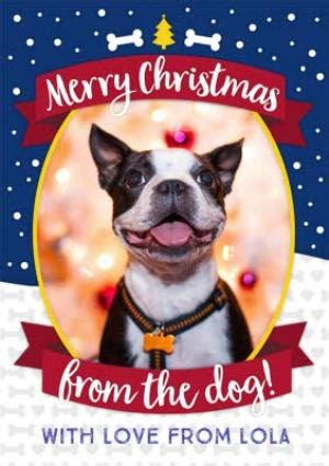 merry christmas from the dog photo upload card moonpig