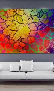 Art abstract colorful CGI digital geometry lines 3D circle ...