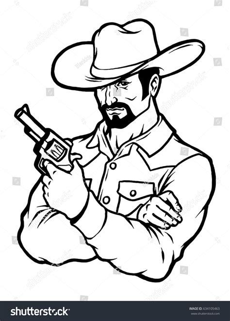 western cowboy  art stock vector  shutterstock