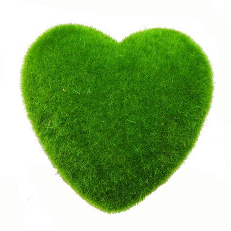 ตกแต่งมอสรูปหัวใจหินหญ้าเทียมตกแต่งบ้านสวนพืชปลอมสีเขียวตก ...