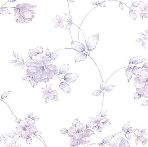 purple shabby chic wallpaper purple garden floral toile on white shabby cottage floral