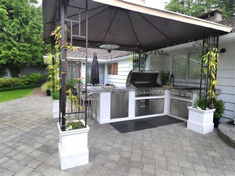 outdoor bbq area backyard bbq area home improvement pinterest cooking the flowers and hardware