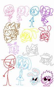 Random GoGoRiki and Dick Figures Doodles by PogorikiFan10 ...