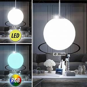 Decken Led Lampen : led glas kugel h nge leuchten wohnzimmer rgb fernbedienung decken lampen dimmbar ebay ~ Whattoseeinmadrid.com Haus und Dekorationen