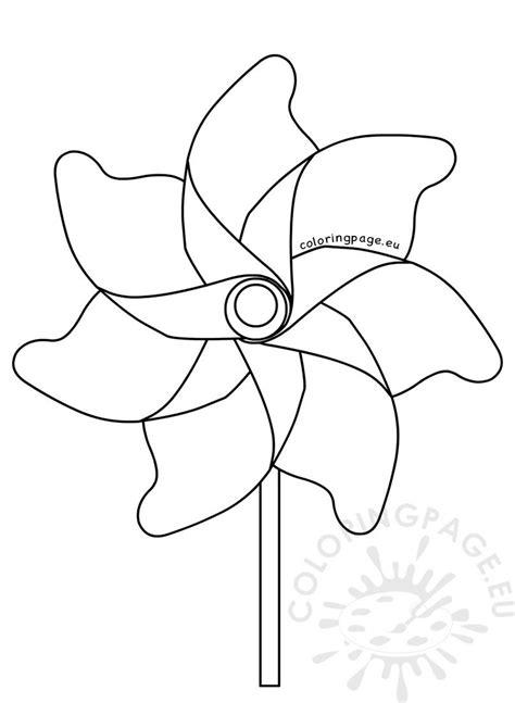 summer coloring page pinwheel coloring page