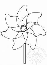 Pinwheel Coloring Summer Pages Printable Getcolorings sketch template