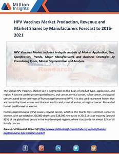 Hpv vaccines market production, revenue and market shares ...