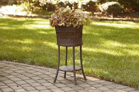 ty pennington style parkside wicker plant stand