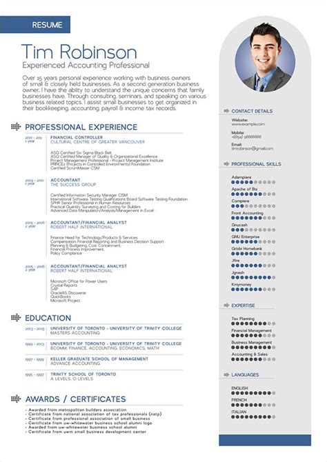 25 unique professional resume format ideas on