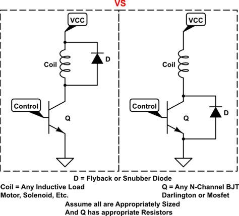 solucionado uso correcto del diodo flyback  tambor de