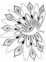 Coloring Pages Peacock Adult Peacocks Printables sketch template