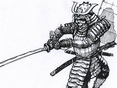 Sketch Samurai Drawing Quick Dribbble Ink Tweet