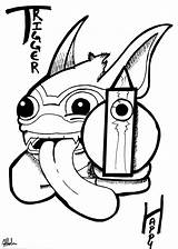 Skylanders Trigger Happy Pages Colouring Deviantart Swapforce Gill Grunt Sonic Trending Days Last sketch template