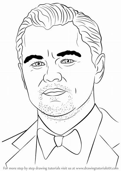 Leonardo Dicaprio Draw Celebrities Drawing Step Celebrity