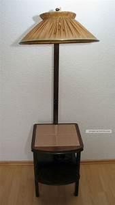 Stehlampe Mit Tisch : alte stehlampe mit integr tisch 50er jahre aus familienbesitz ~ Indierocktalk.com Haus und Dekorationen