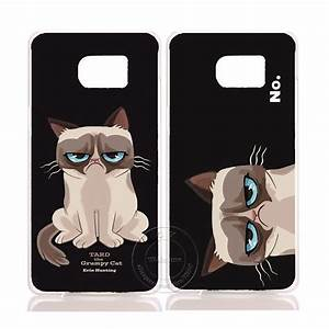 2016 New Grumpy Cute Cat Hard Plastic Case Cover For ...