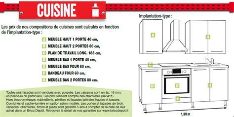 cuisine plan type type de plan de travail cuisine exemple cuisine