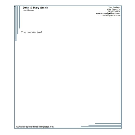 business letterhead template word beepmunk