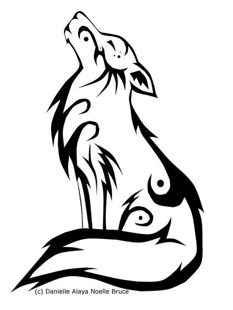 tribal wolf ideas  pinterest tribal drawings