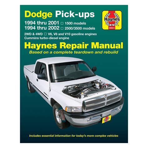 car manuals free online 1994 dodge ram van b350 user handbook haynes manuals 174 dodge ram 1994 repair manual