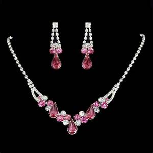 parure de bijouxde mariage tonailte cristalline rose With bijoux de mariage