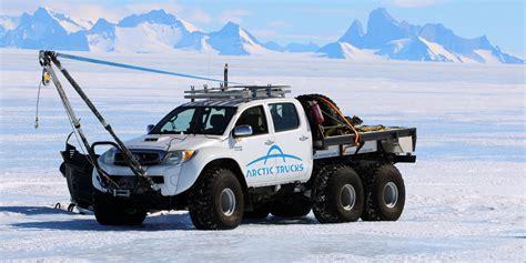 arctic trucks    route  antarctica