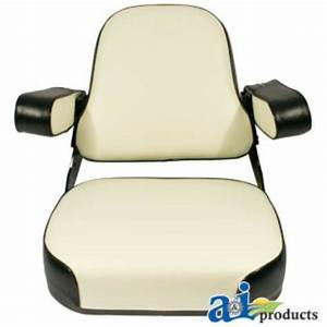 Case  Ih Seat Assembly Black  White Fits 544  656  666  686