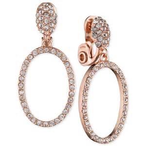 10k earrings klein women s gold tone pavé hoop