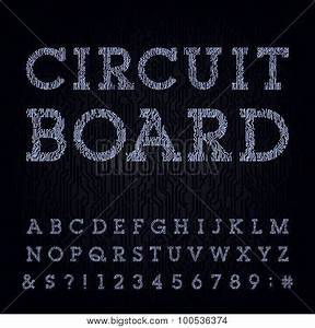 circuit board type font vector alphabet poster id100536374 With big letters for poster board