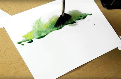 4 Clever Watercolor Techniques Using A Fan Brush (pics