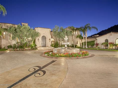 most beautiful driveways most expensive home in arizona asking 32 million