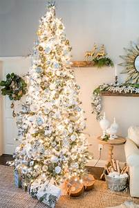 Neutral, Christmas, Tips, For, Decorating, A, Silver, And, Gold, Christmas, Tree