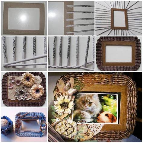 diy beautiful woven paper photo frame