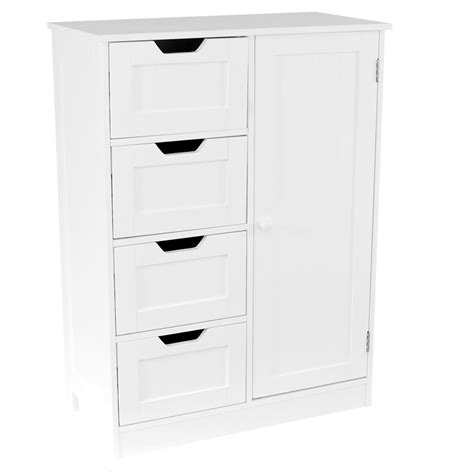 free standing storage cabinets with doors priano free standing unit 4 drawer 1 door bathroom cabinet