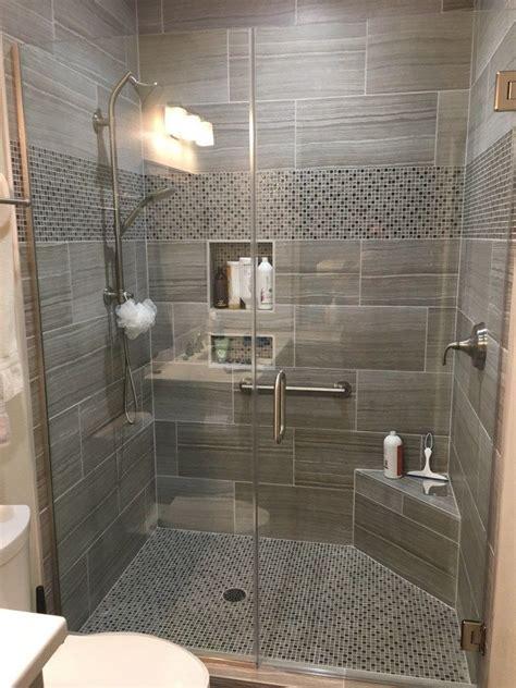 tile   shower walls   glass  stone