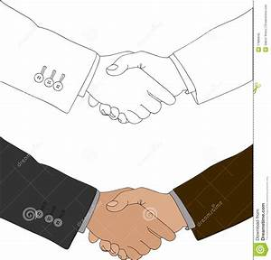 Drawing Of Two Hands Shaking Stock Vector - Image: 17886645