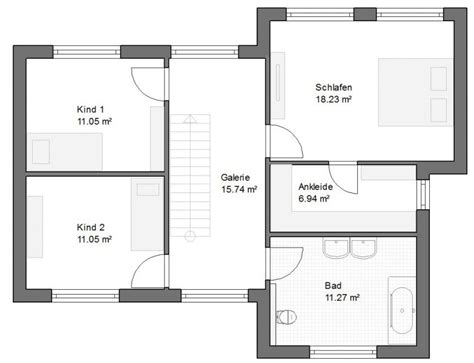 Bauhausstil Einfamilienhaus Grundriss  Haus Grundriss