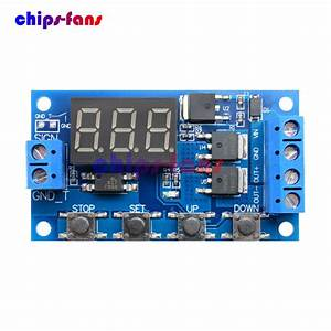 Trigger Cycle Timer Delay Switch Circuit Board Mos Tube