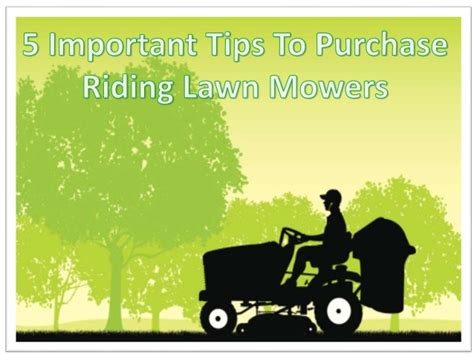 5 Important Tips To Purchase Riding Lawn Mowers