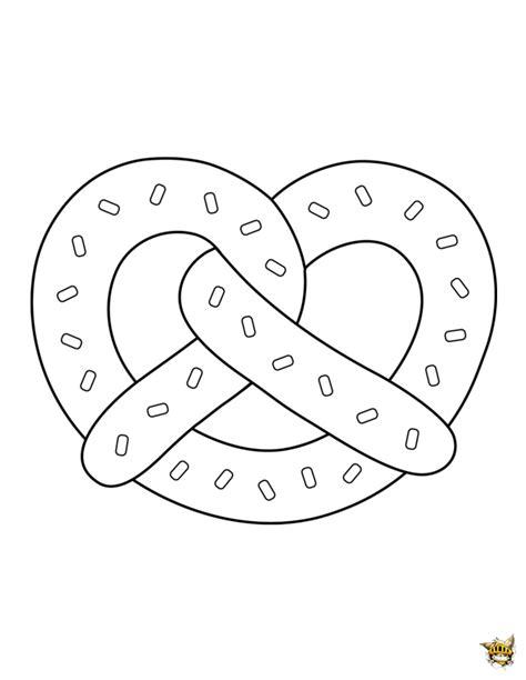 jeux de cuisine avec bretzel est un coloriage de plats à imprimer