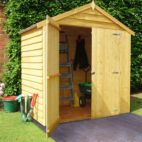 Small Sheds B Q by 6x4 Apex Overlap Wooden Shed Departments Diy At B Q