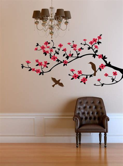 wall decal cherry blossom branch wall decal by cherrywalls