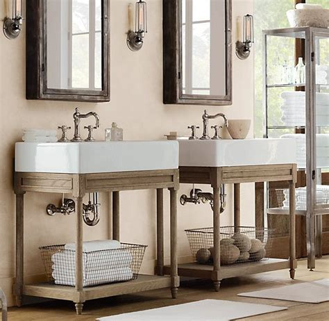 Single Sink Consoles Bathroom by Weathered Oak Single Console Washstand Bathroom Ideas