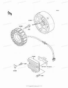 Kawasaki Atv 1997 Oem Parts Diagram For Generator