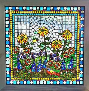Kathleen, Dalrymple, -, Glass, Artist, Glass, On, Glass, Mosaic, Tryptic