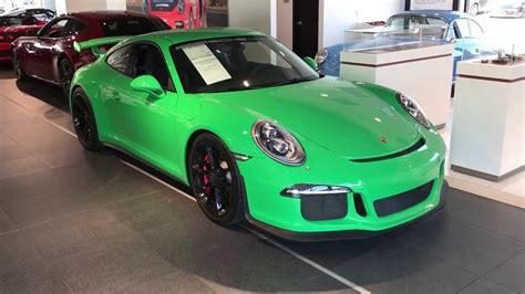 porsche signal green paint 2015 porsche cpo 911 gt3 paint to sle signal green with